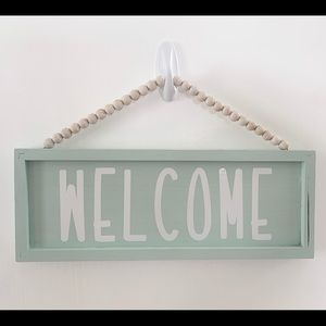 "Welcome wooden door / wall sign 15""x5.5""x1"""